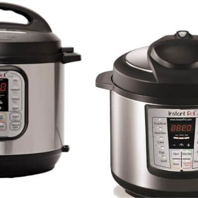 2 Instant Pots side by side for the Instant Pot Duo vs Lux Comparison
