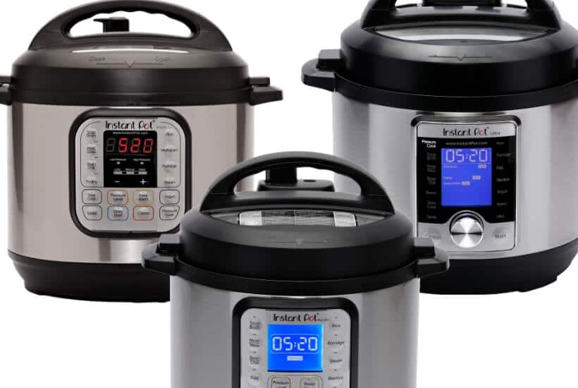Instant Pot Sizes by Model