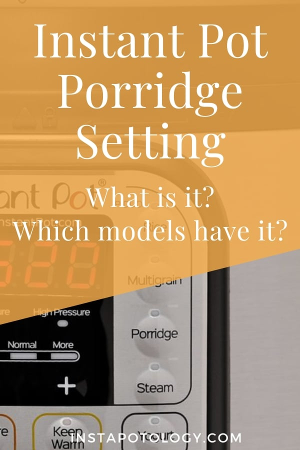 Instant Pot Porridge Setting: What is it? Which models have it?