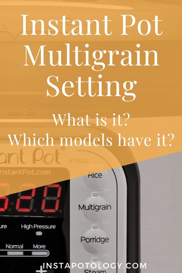 Instant Pot Multigrain Setting: What is it? Which models have it?