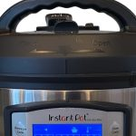 Close up of an electric pressure cooker to prepare to buy Instant Pot Duo Evo Plus Accessories