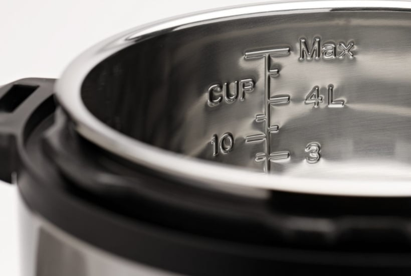 Close up of an open Instant Pot to compare a the differences between an Instant Pot Viva vs Duo Nova